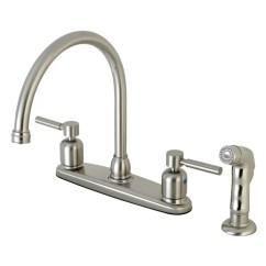Kitchen Faucet Spout Remodeling Madison Wi Kingston Brass Centurion Centerset Gooseneck Double Handle