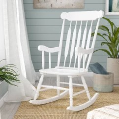 White Wood Rocking Chair Accent Arm Chairs Under 100 You Ll Love Wayfair Quickview