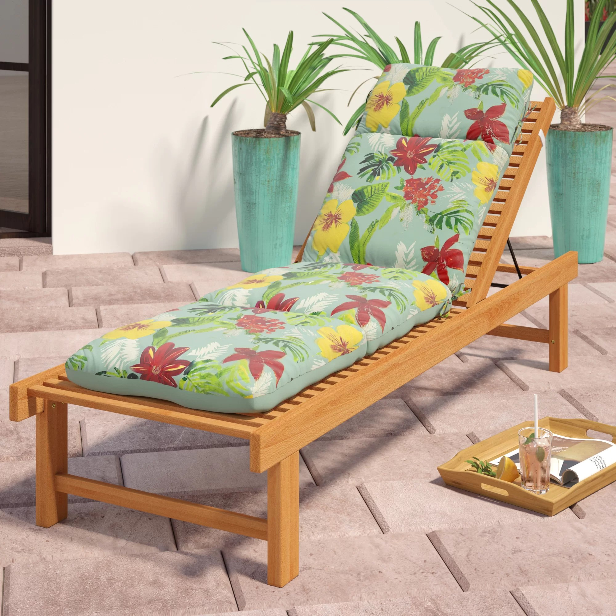 tropical outdoor seat back cushion