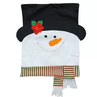 grey christmas chair covers swing stand diy hat wayfair snowman back by the holiday aisle