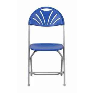 blue metal folding chairs babybjorn potty chair reviews navy wayfair quickview