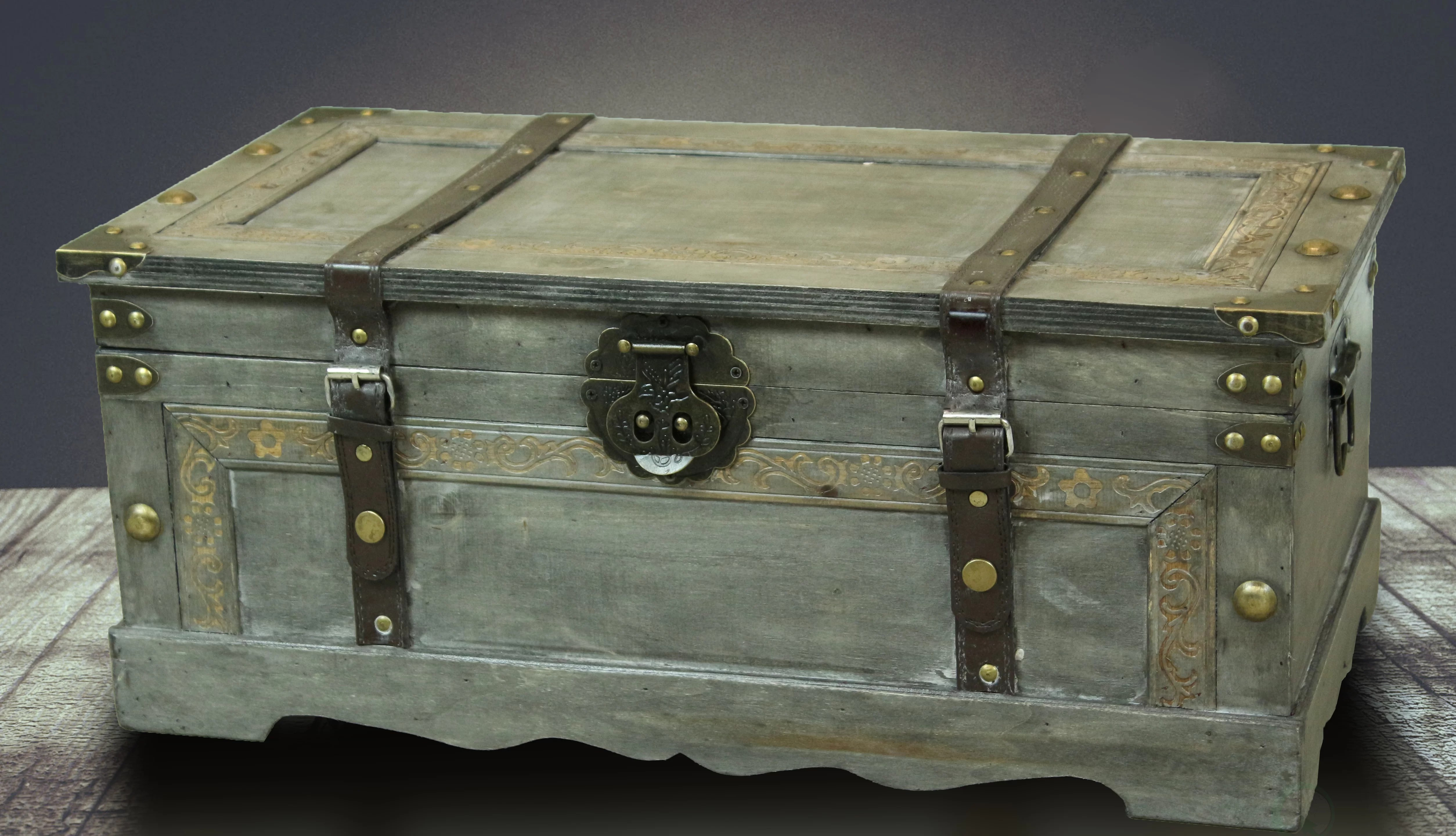 trunks chests large retro wooden