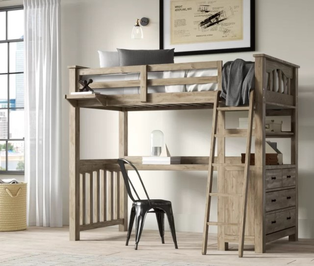Timberville Loft Bed With Desk