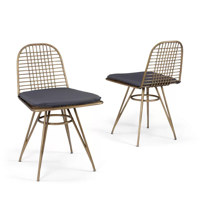 malena patio dining chair with cushion