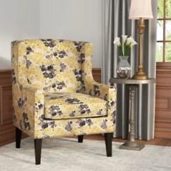 Accent Chair Yellow Covers Large Wingback Chairs You Ll Love Wayfair Agnes