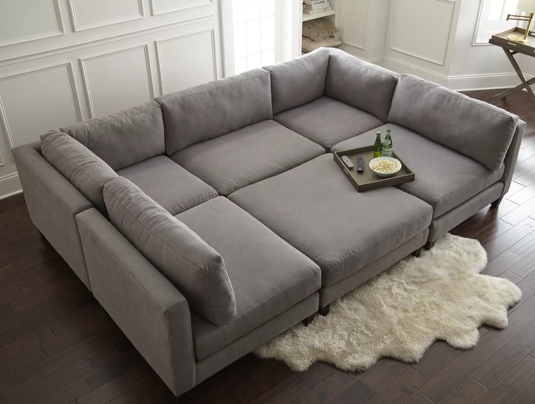 pewter sofa bed color for beige wall home by sean & catherine lowe chelsea modular sectional ...
