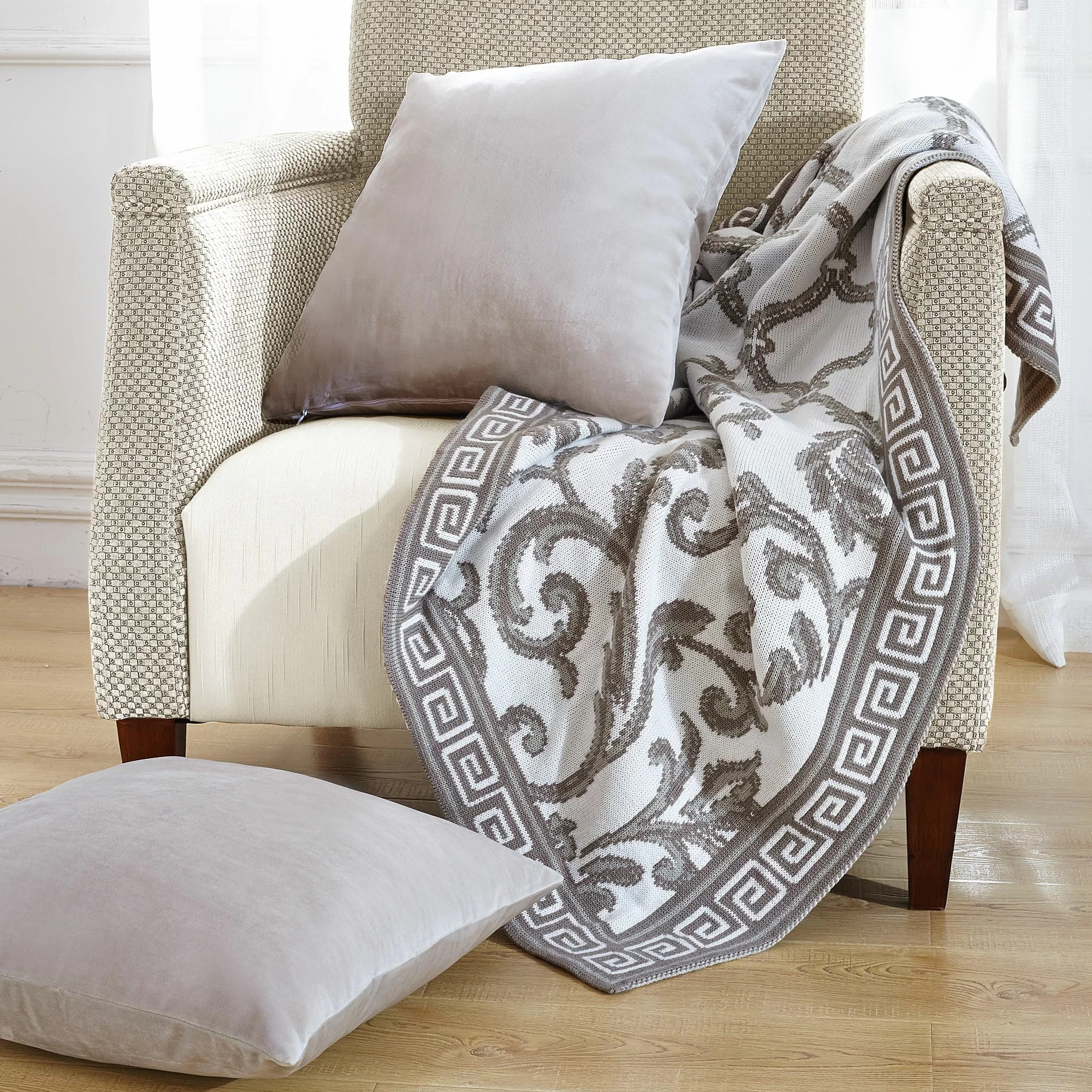 marisol knitted ez matching throw