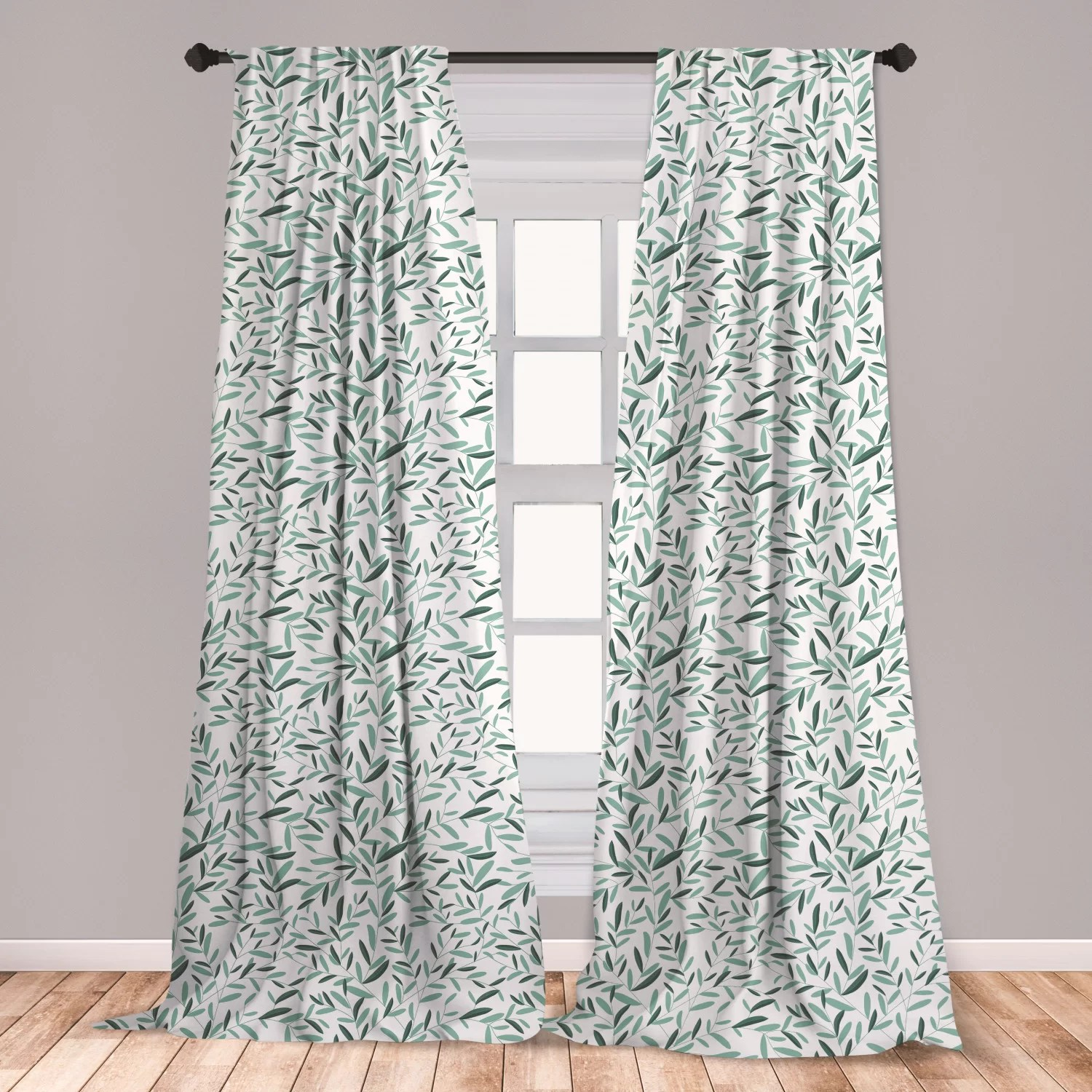 https www wayfair com decor pillows pdp east urban home ambesonne sage window curtains pattern with leaves environment nature simplicity summer spring plants garden lightweight decorative panels set of 2 with rod pocket 56 x 63 reseda green white ebkt4081 html