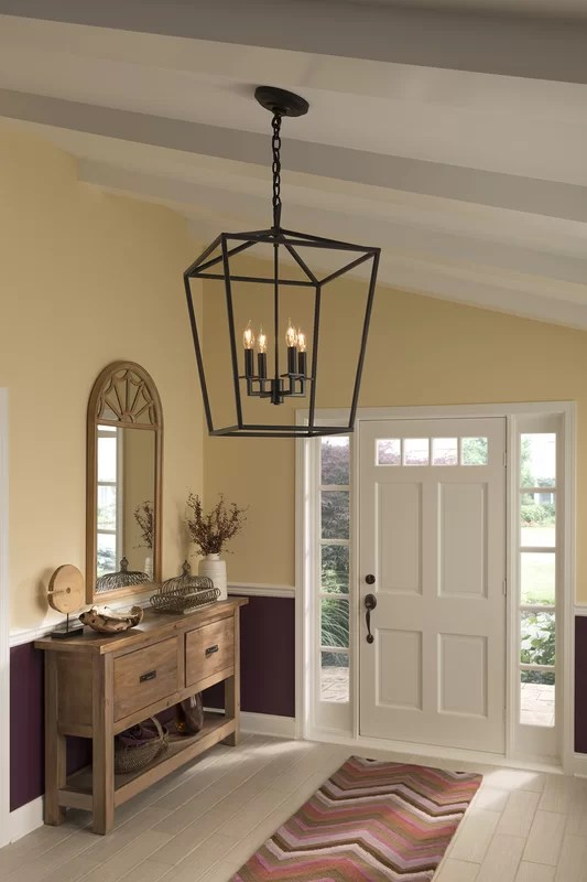 Norwell Lighting Cage 4Light Foyer Pendant  Reviews  Wayfair