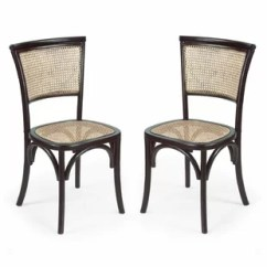 Black Side Chair Unfinished Wood Rocking Runners Cane Wayfair Dining Set Of 2