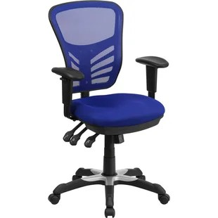 blue office chair stool ebay ergonomic chairs you ll love wayfair ayers mid back mesh desk