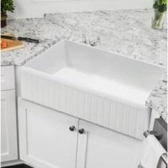 Cement Kitchen Sink Gray Cabinets Concrete Farmhouse Wayfair 30 X 18