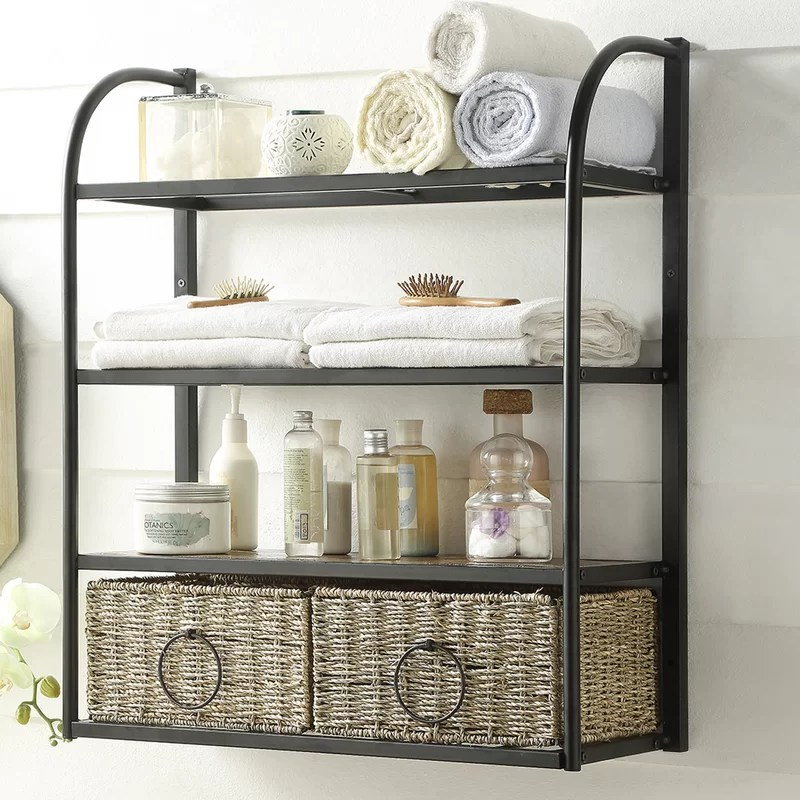 Kiowa Hanging Storage Rack with Basket