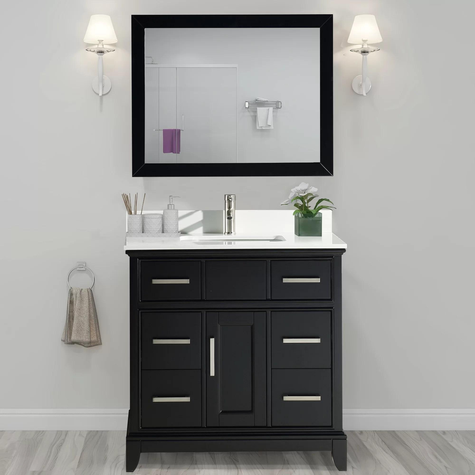 valor 36 single bathroom vanity set with mirror