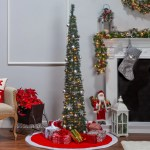 The Holiday Aisle Pop Up Decorated 6 Green Artificial Christmas Tree With 100 Clear White Lights Reviews Wayfair