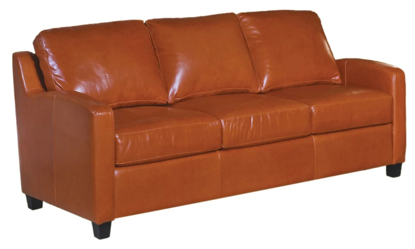 chelsea leather sofa contemporary fabric sectionals omnia deco and reviews wayfair