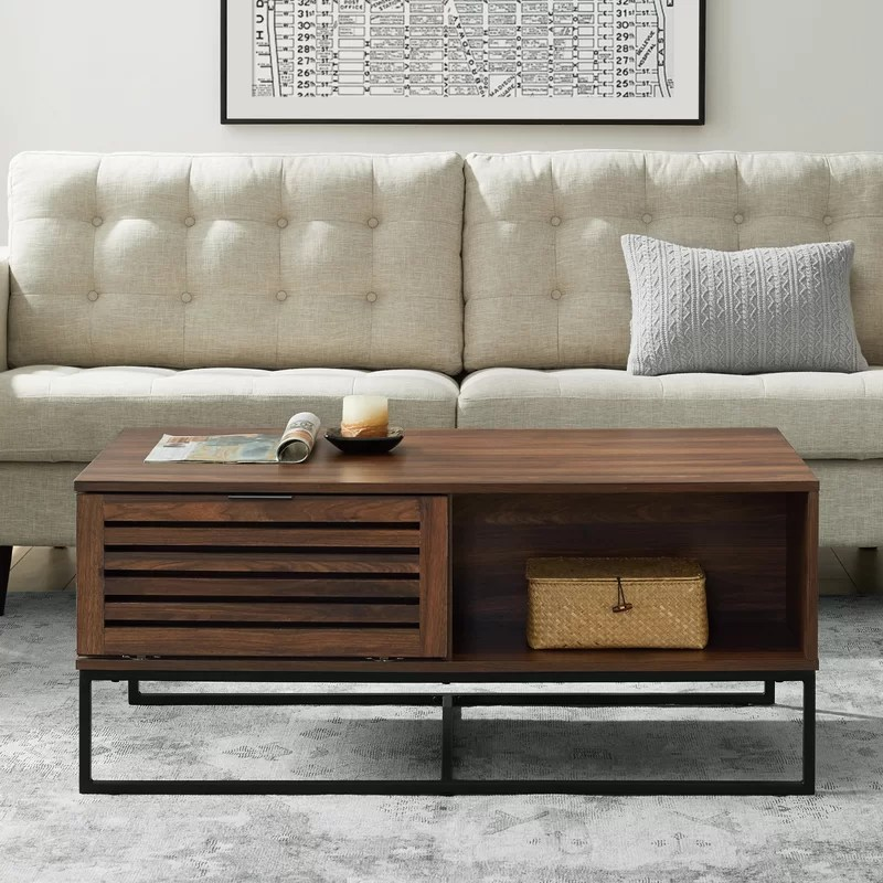 nena sled coffee table with storage