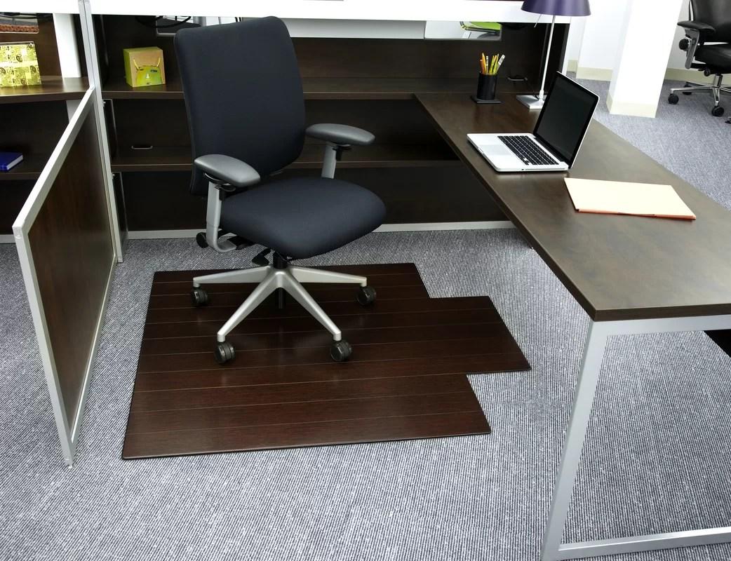 office chair mat bamboo wobble symple stuff and reviews wayfair