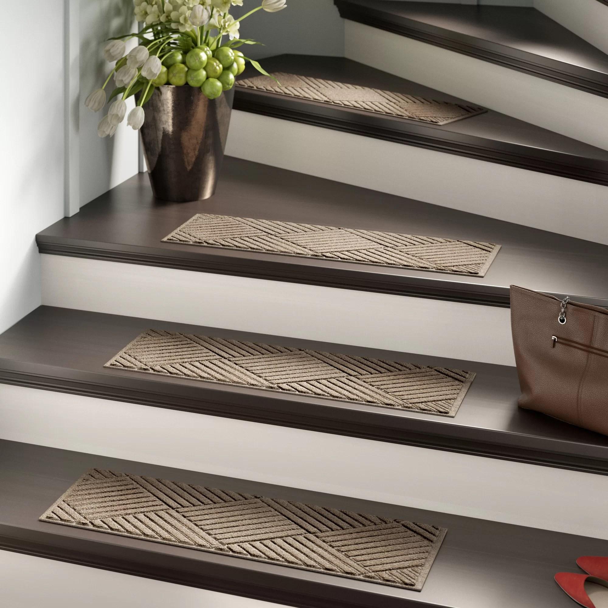 Stair Tread Rugs You Ll Love In 2020 Wayfair   Carpet Down Middle Of Stairs   Hardwood   Benjamin Moore   Carpet Runner   Landing   Stair Tread
