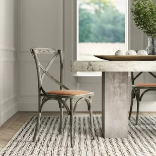gray rattan dining chairs pink tufted office chair wicker kitchen you ll love wayfair quickview