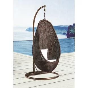 swing chair wayfair louis arm indoor hanging wicker with stand