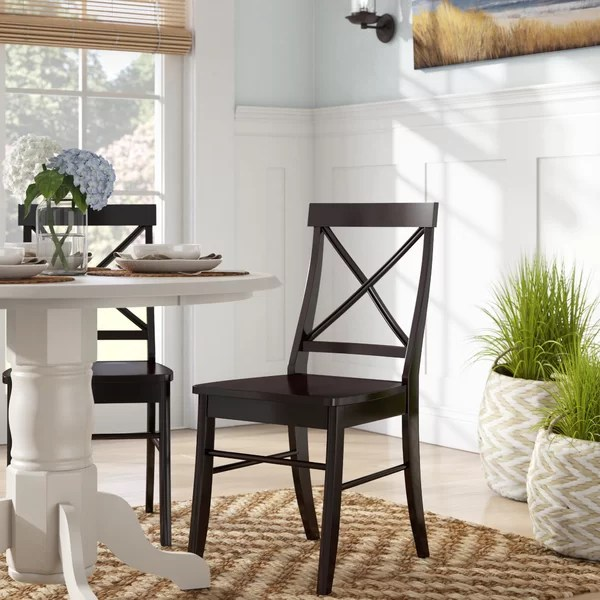 Peachy Melbourne Shores Cross Back Side Chair By Beachcrest Home Home Interior And Landscaping Eliaenasavecom