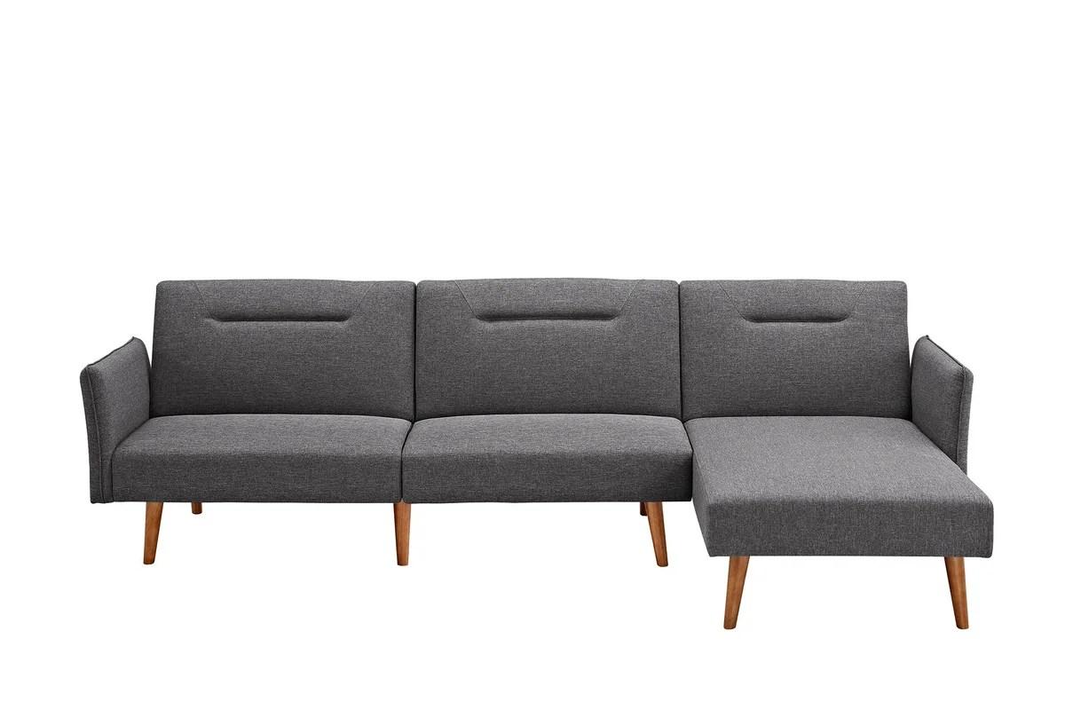 folding sofa sleeper hinge assembly set walmart cama langley street fresno reversible sectional and reviews