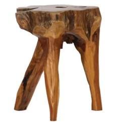 3 Legged Chair Used Chairs For Sale Wooden Stool Wayfair Legs Teak Root