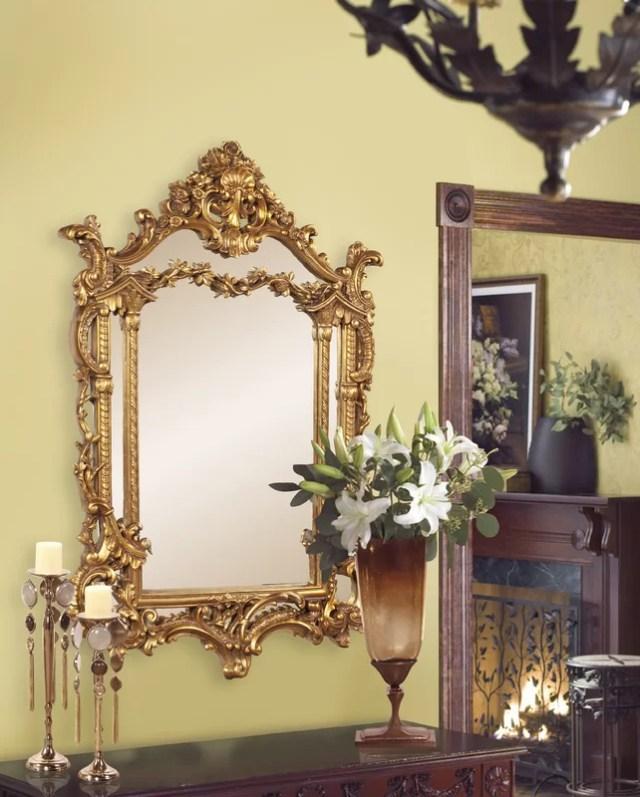 Antique Gold Vertical Baroque Mirror
