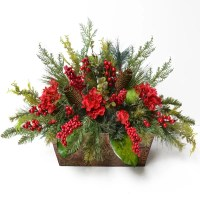 Floral Home Decor Pine and Berry Christmas Floral ...