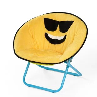 folding chair emoji non slip office mat saucer wayfair liesl kids