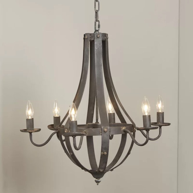 Foulds 6 Light Candle Style Chandelier