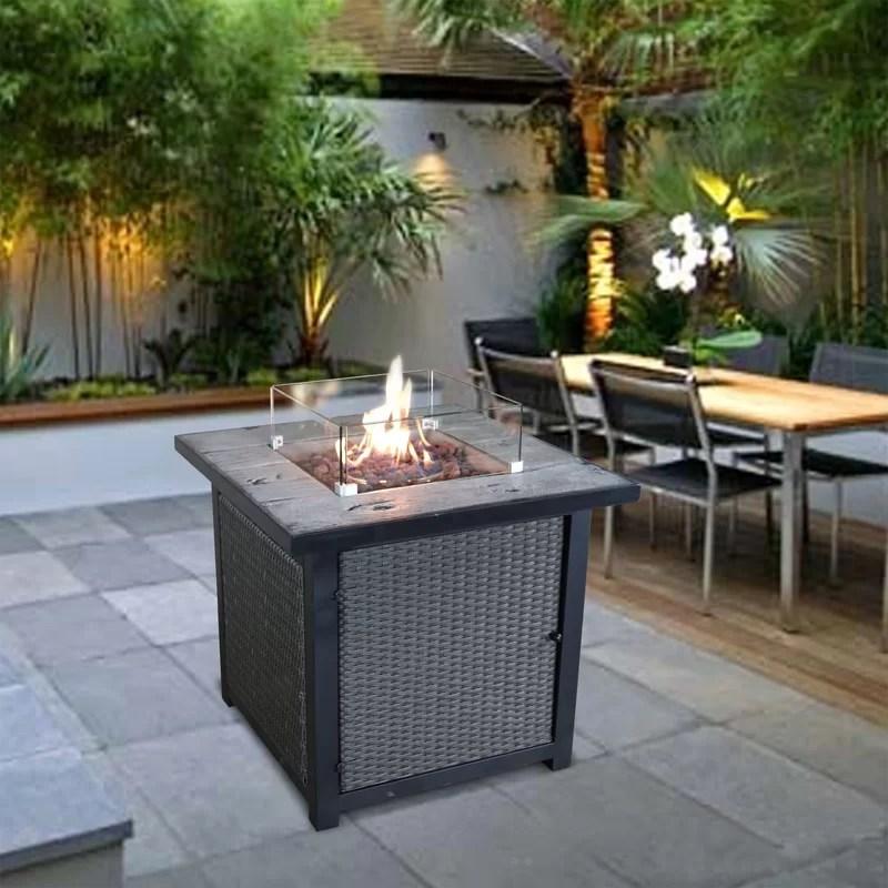 garfinkel concrete propane fire pit table