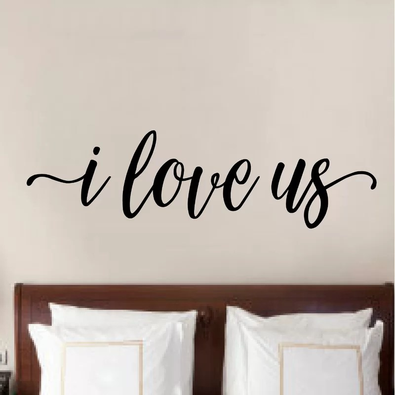 I Love Us Letters Words Wall Decals