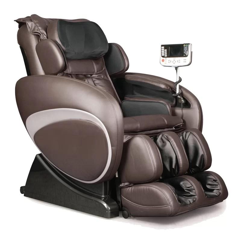 reclining massage chair wide lounge cushions symple stuff zero gravity heated wayfair