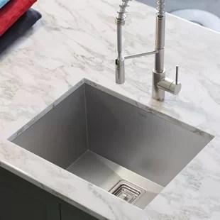 deep kitchen sink table storage wayfair pax 24 x 19 undermount
