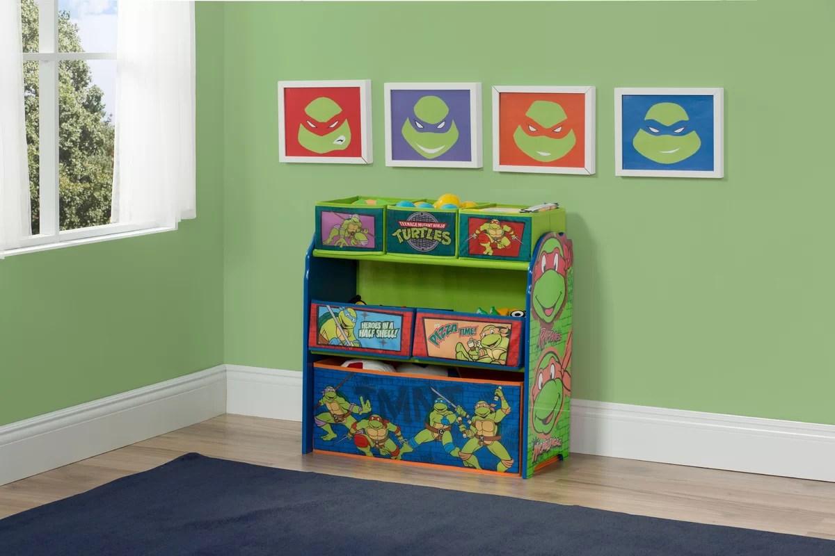ninja turtle chair toys r us gold bow covers delta children turtles multi bin storage organizer