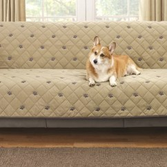 Armless Sectional Sofa Pet Protector Leather Tufted Bed Deluxe Furniture Cover For