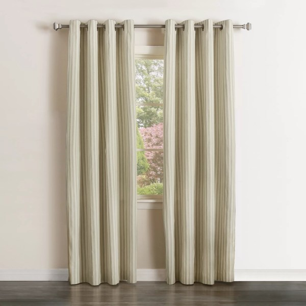 Vertical Striped Sheer Curtains