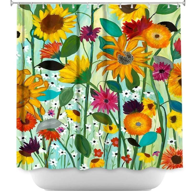 colmesneil sunflower house single shower curtain