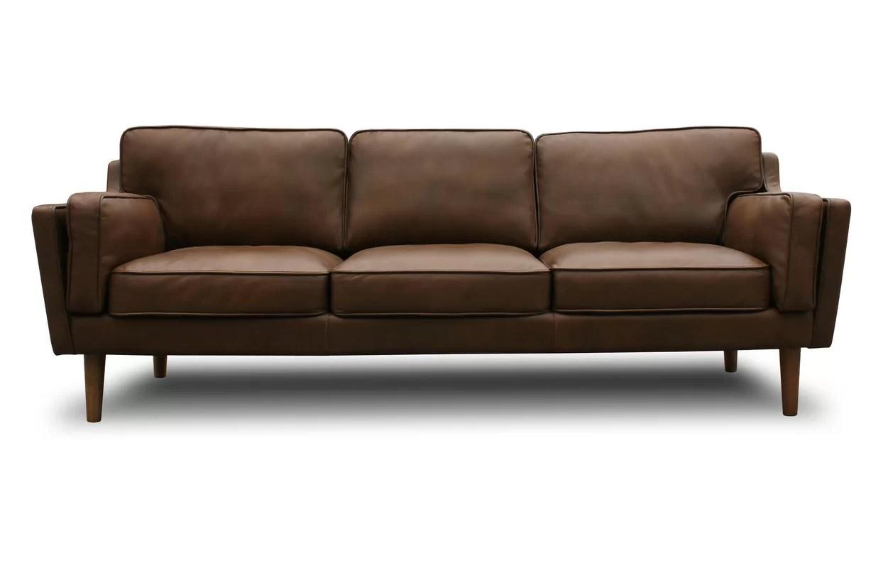 leather chair modern desk mesh seat kaufman mid century sofa and reviews joss