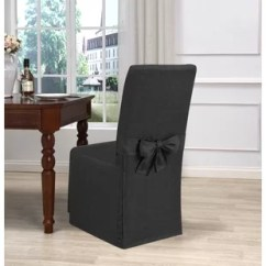 Gray Chair Slipcover Oakland Raiders Grey Kitchen Dining Slipcovers You Ll Love Wayfair Quickview