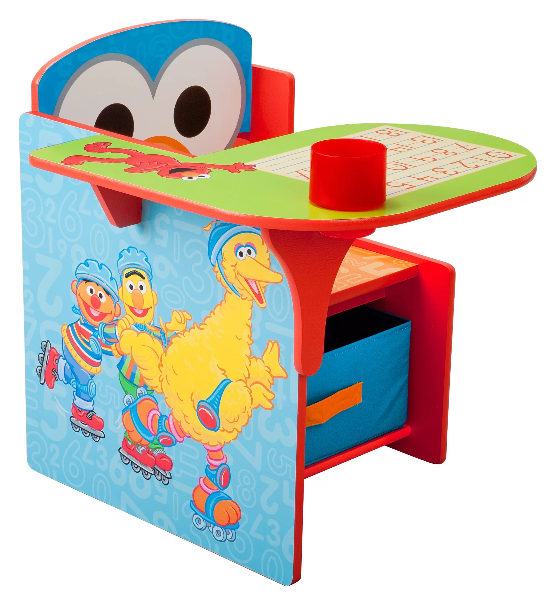 Kids Chair Desk Sesame Street Kids Desk Chair With Storage Compartment And Cup Holder