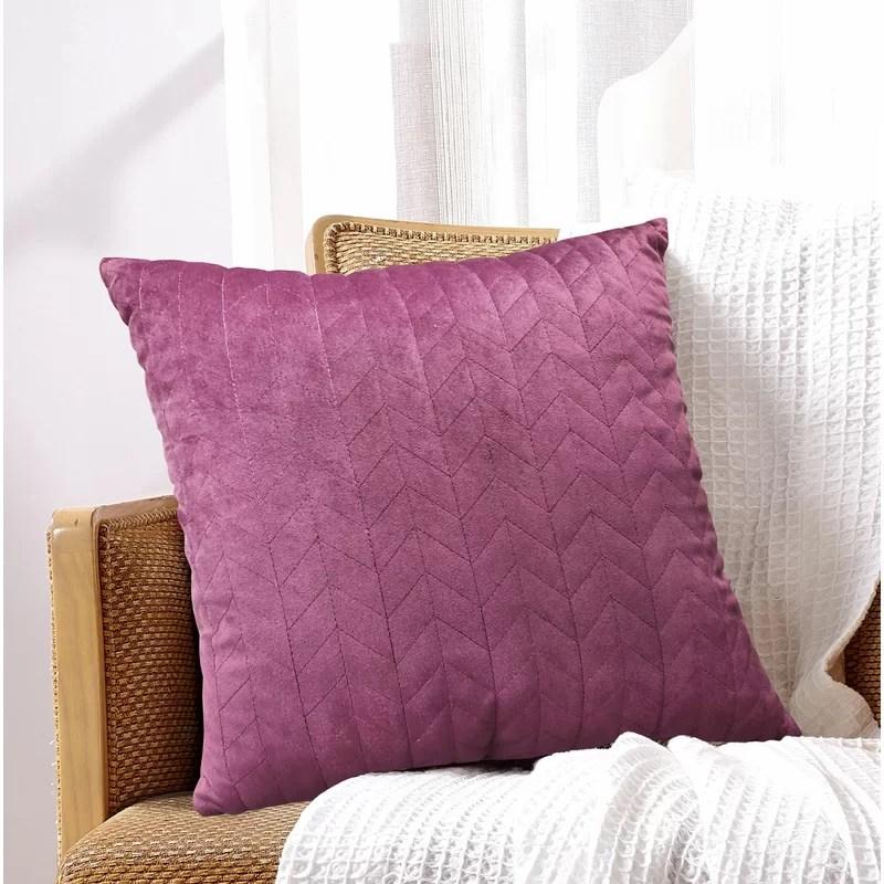magenta velvet pillow online
