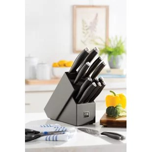kitchen knife sets for sale price of cabinets you ll love wayfair silvercap micro serrated 14 piece block set
