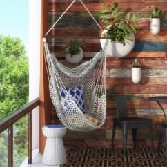 Outdoor Chair Cushions Sale Laptop Gaming Mistana Hawkins Cotton Rope Hammock & Reviews | Wayfair