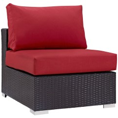 1 Piece Patio Chair Cushions Tufted Leather Modway Convene Outdoor 7 Seating Group With