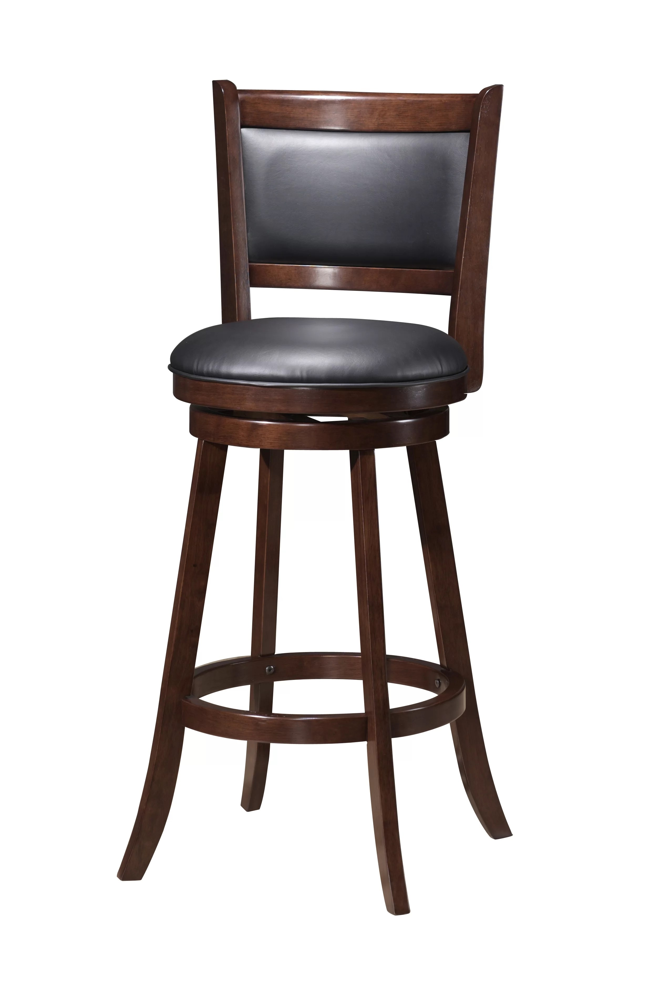 Wood Bar Chairs Tuthill Wooden Swivel Bar Stool