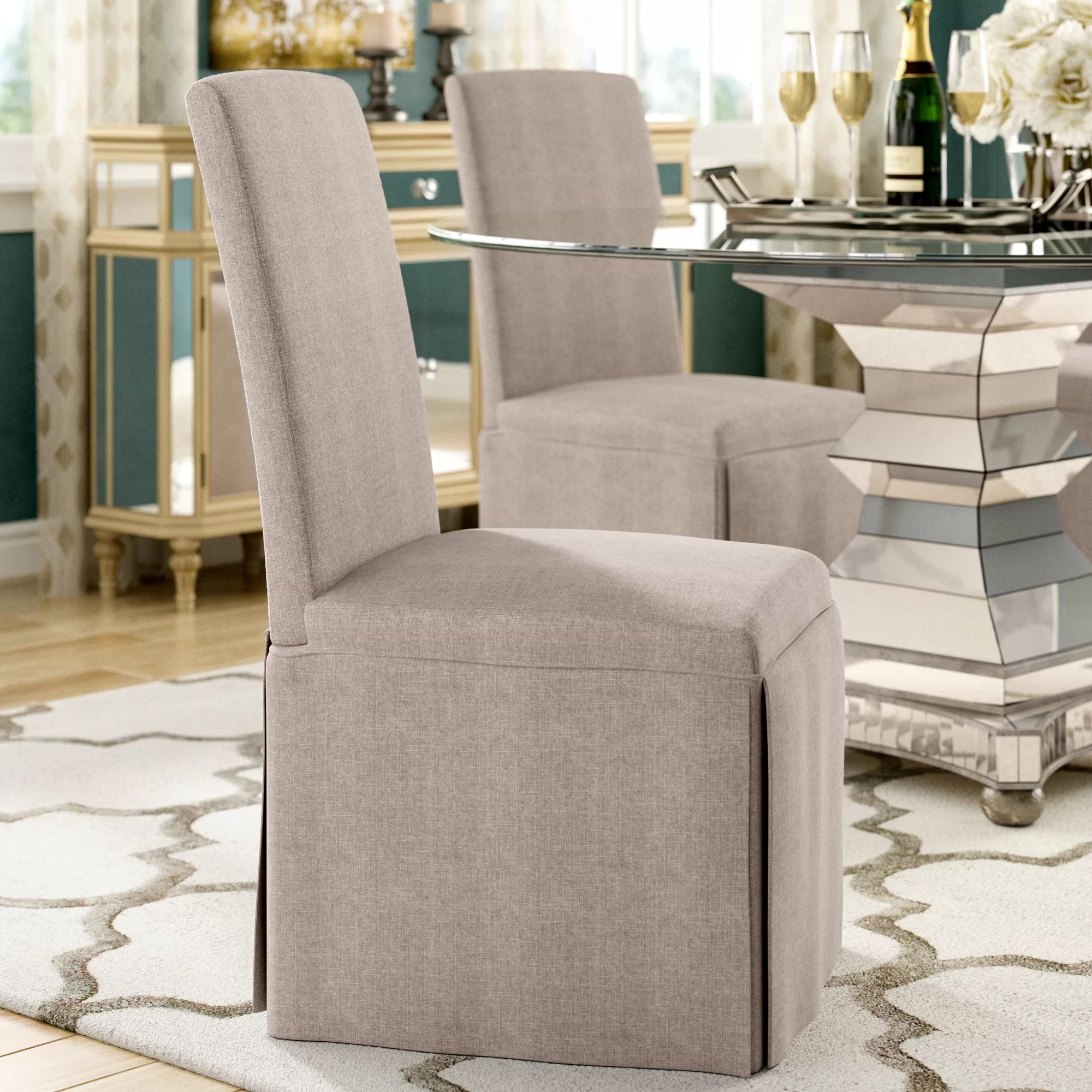 Dining Room Upholstered Chairs Lamb Upholstered Dining Chair
