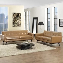 Tan Leather Couch Living Room Country Style Decorating Ideas Light Sofa Wayfair Quickview